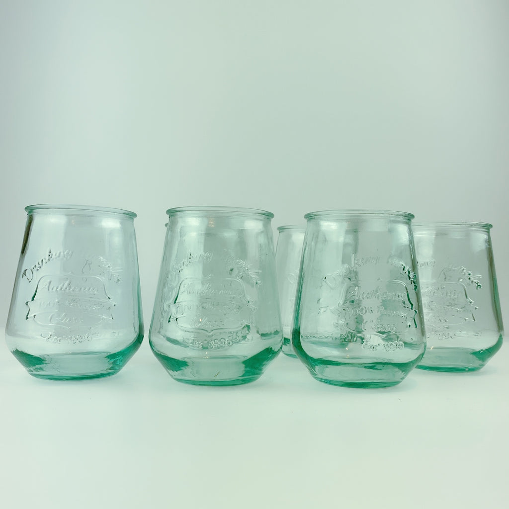 Authentic San Miguel Drinking Glasses 100% Recycled Glass - Set of 6 (14 oz)