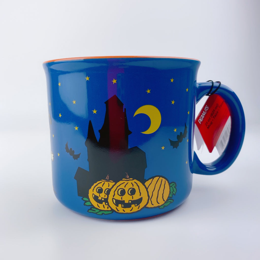 PEANUTS Large Charlie Brown Trick or Treat Halloween Great  Pumpkin Coffee Mug 21 oz