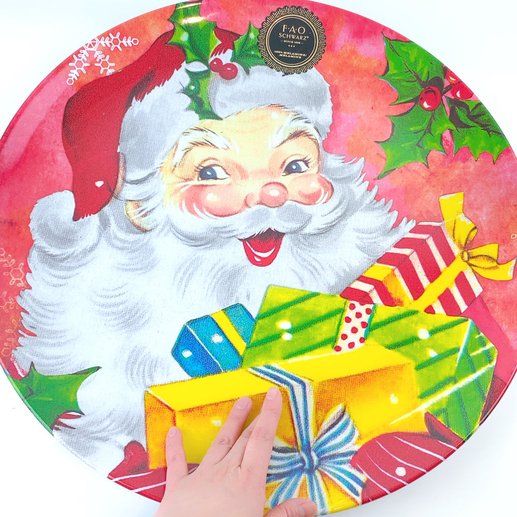 FAO Schwarz Santa Claus Holiday Seasonal Mega Sized Plate 20""
