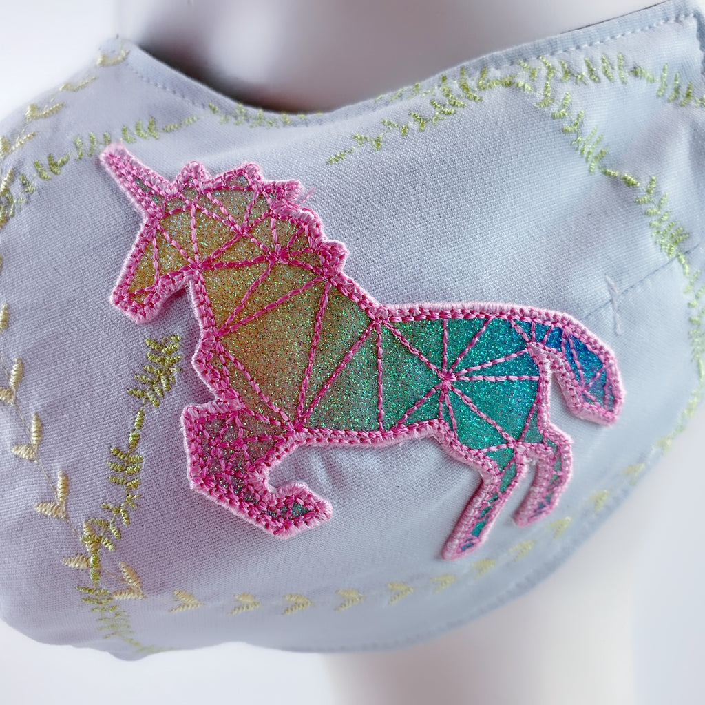 Mask 4 Protect Face Mask Mystic Unicorn Star Baby Blue