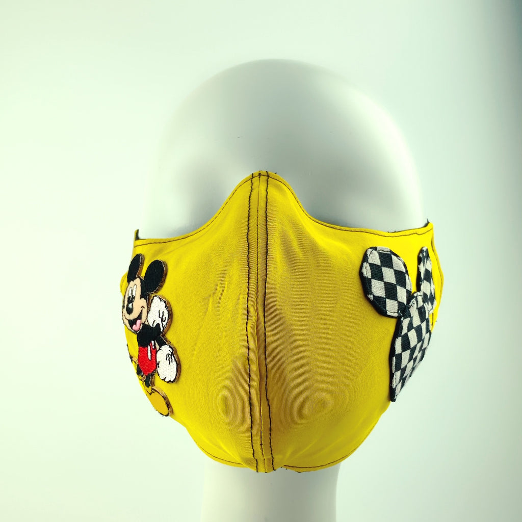 Mask 4 Protect Disney Mickey Mouse Yellow Face Mask