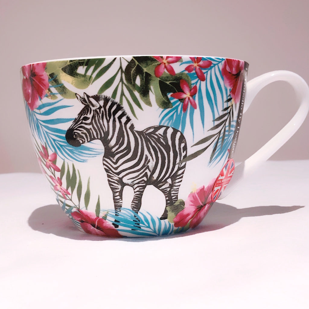 Portobello By Design Dogs / Zebra Bone China XL Coffee Mug Tea Cup