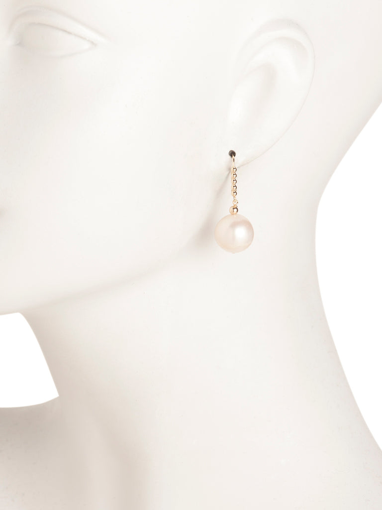 GEORG K. Made In USA 14k Gold Pearl Drop Leverback Earrings - PitaPats.com