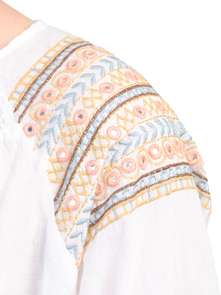 CUPIO Embroidered Split Neck Tunic - PitaPats.com