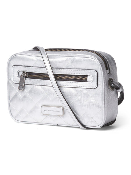 MARC BY MARC JACOBS Leather Sally Metallic Crossbody - PitaPats.com