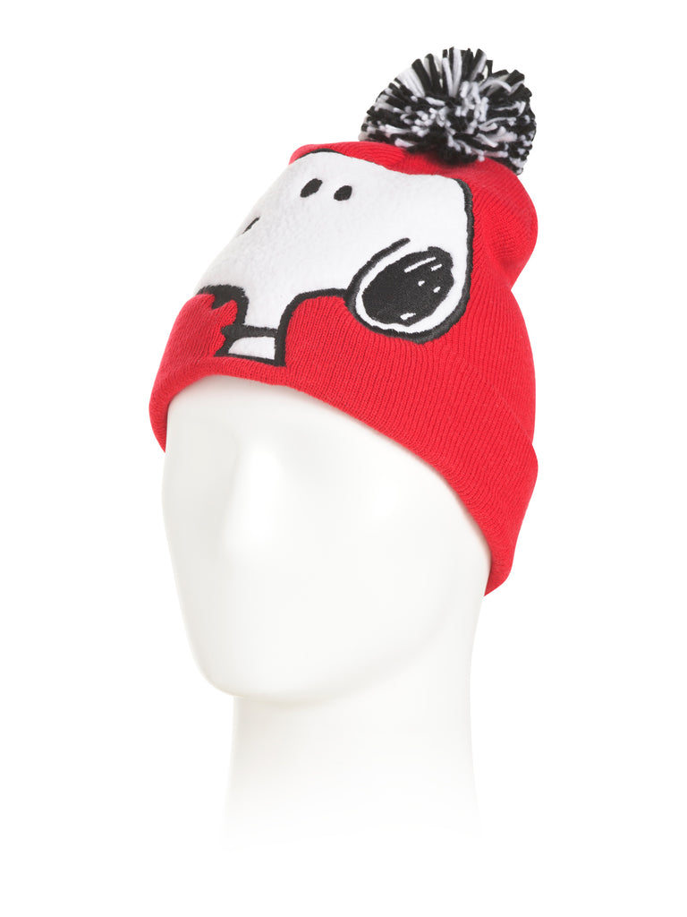 PEANUTS Snoopy Sherpa Red Beanie