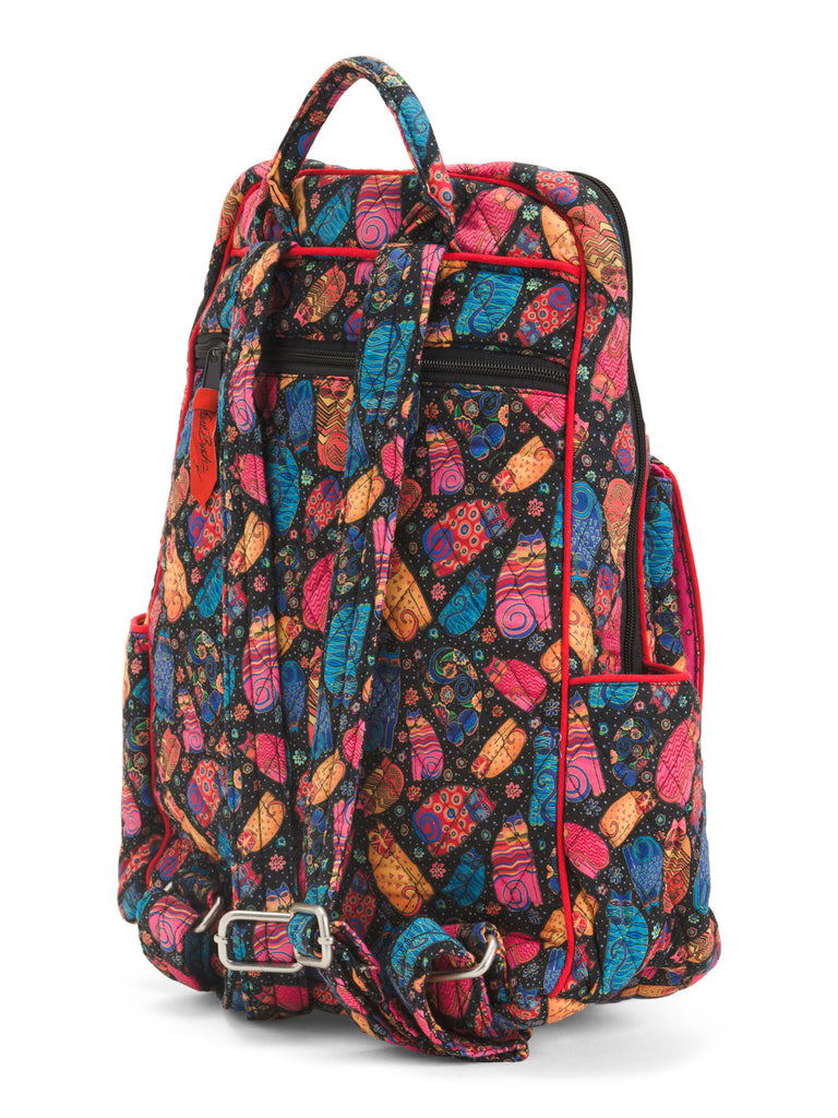 LAUREL BURCH Feline Family Large Backpack