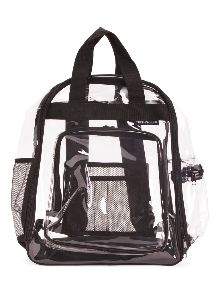 U.S. TRAVELERS CHOICE Unisex Clear School Backpack