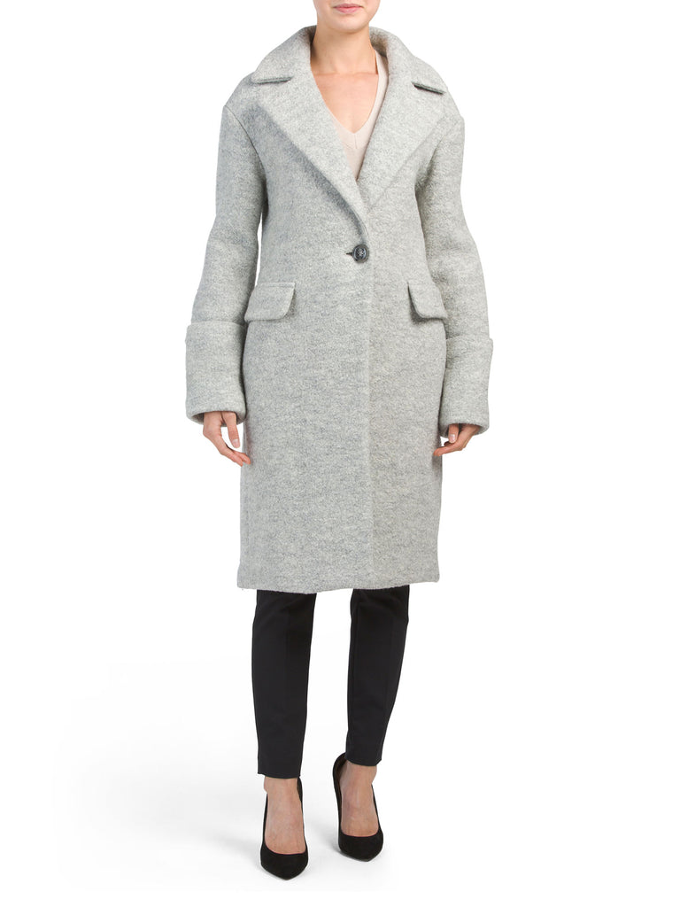 Anne Klein Single-Button Walker Coat