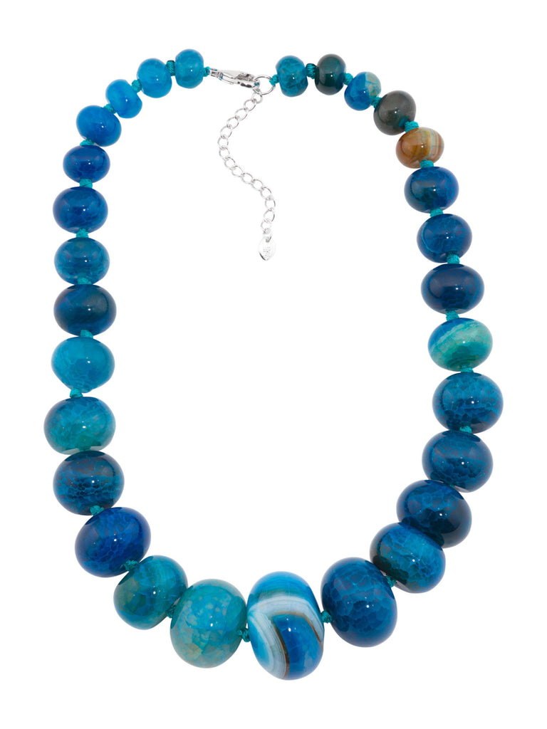 SPRIG Sterling Silver Blue Agate Necklace