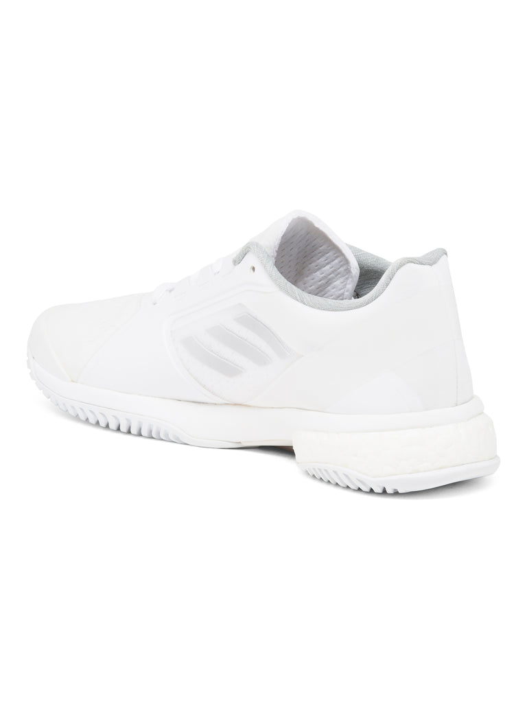 adidas Women's by Stella McCartney Barricade Boost 2017 Tennis Shoes White and Solid Gray - PitaPats.com