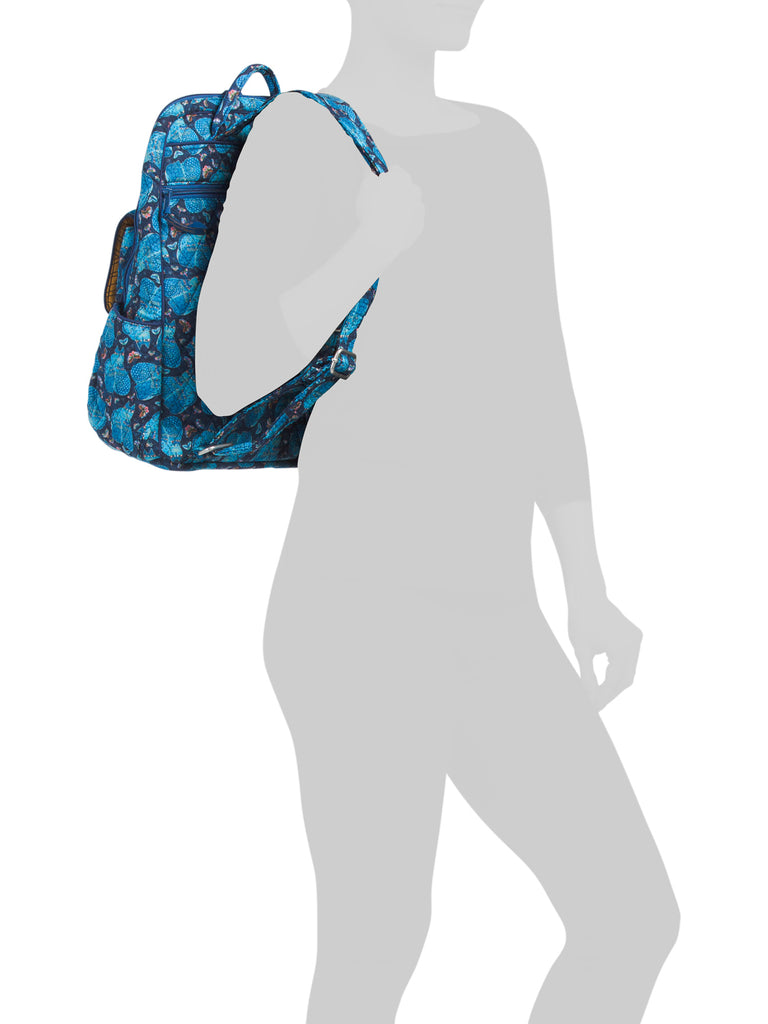 LAUREL BURCH Quilted  blue Cats Backpack