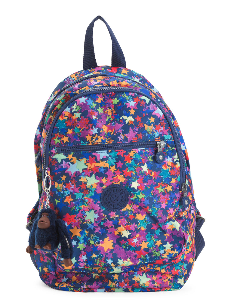 kipling challenger ii small backpack popping stars