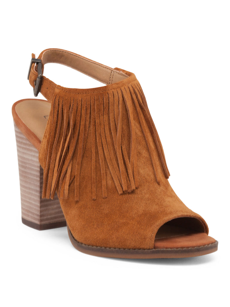 LUCKY BRAND Suede Open Toe Bootie - PitaPats.com