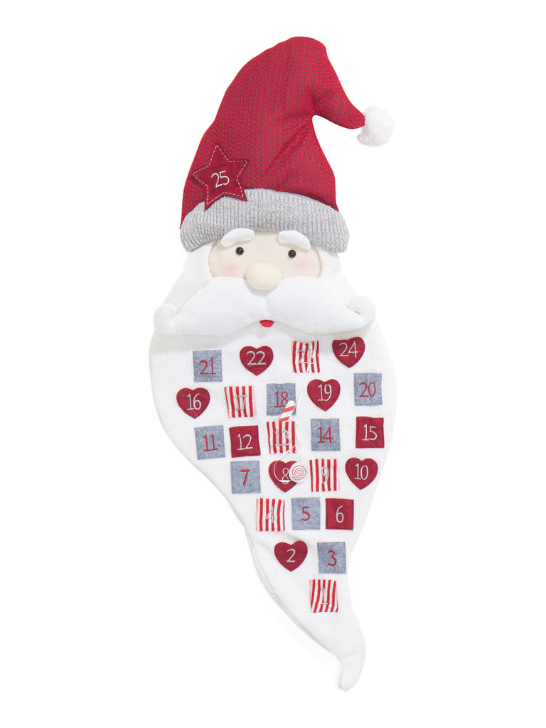 PEPPERMINT SQUARE 50in Hanging Santa Advent Calendar - PitaPats.com