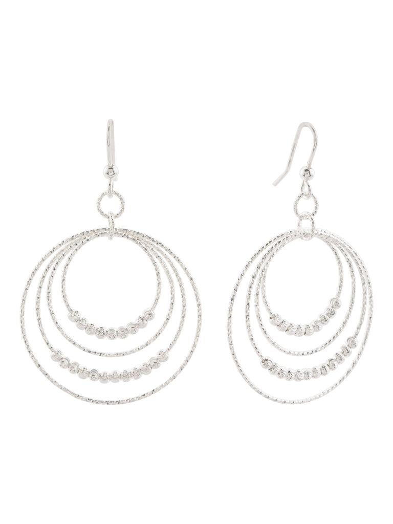 MIA FIORE Made In Italy Sterling Silver Graduated Circle Bead Earrings