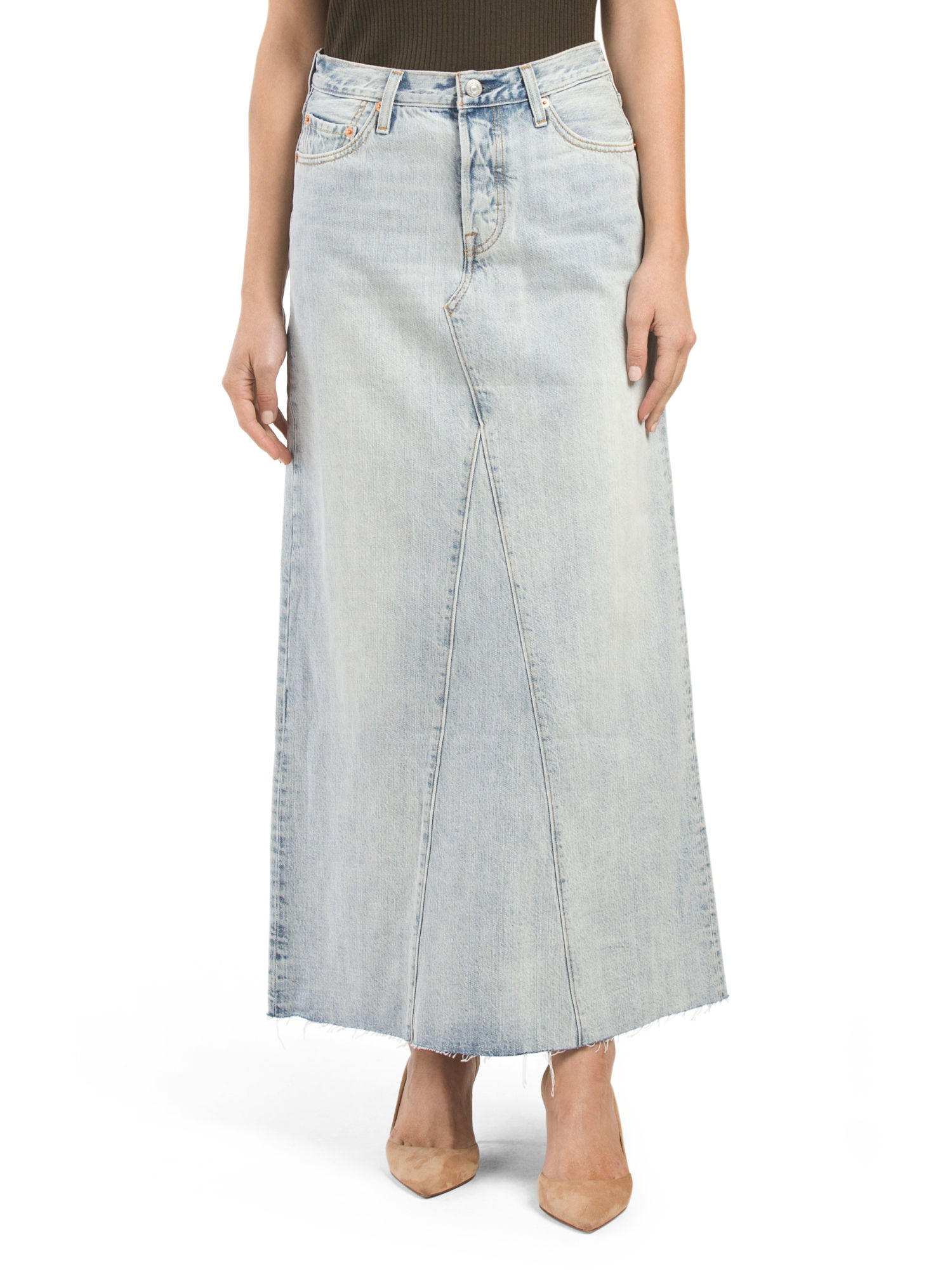 Long Levi denim skirts pictures images