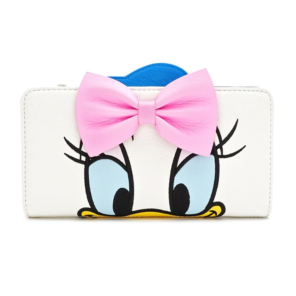 LOUNGEFLY X DISNEY DONALD AND DAISY DOUBLE SIDED WALLET