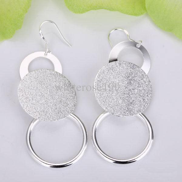 Sterling Silver Three Circle Earring - PitaPats.com