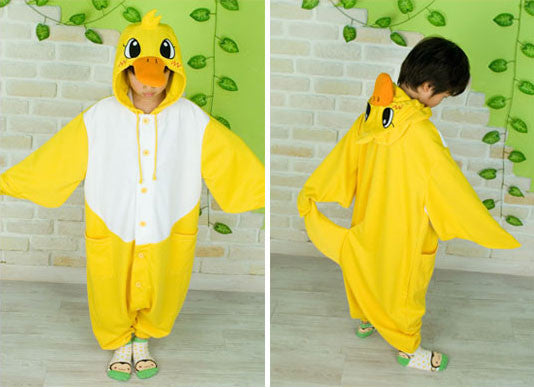 PITaPATs kids onesie animal jumpsuit costume - long sleeve cutie yellow duck - PitaPats.com
