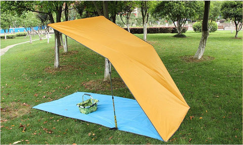 Ultralight Sun Shelter, Camping Mat, and Beach Tent! 100% Polyester Tarp Cover