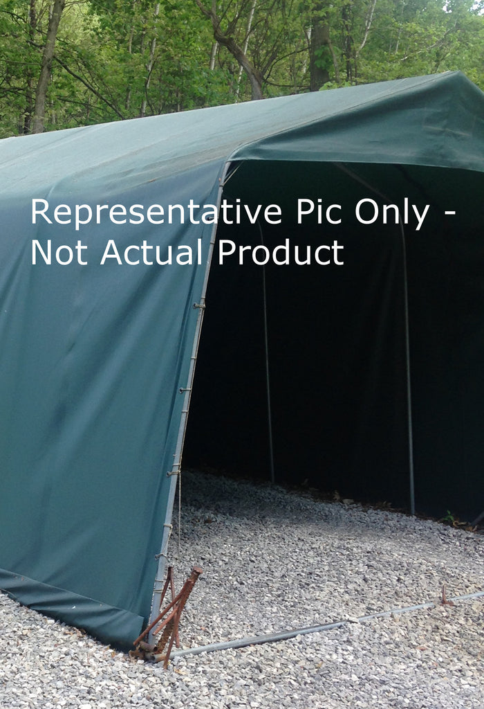 Custom Carport Cover - 18oz Vinyl Coated - Tarp Trader