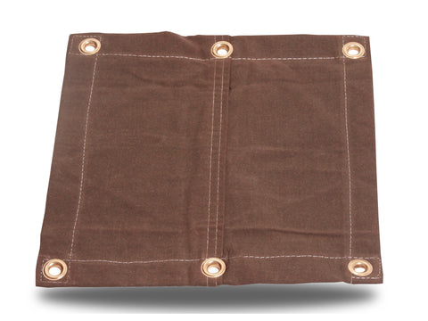 "18oz Heavy Duty Canvas Tarp - 1-1/2"" Flat Hem - Brown - Tarp Trader"