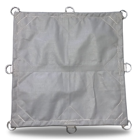 Super-Strong Poly - 16.5mil - D-Rings - Gray/White - Tarp Trader
