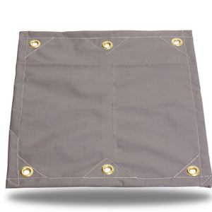 Super-Strong Poly - 16.5mil - Grommets - Gray/White - Tarp Trader