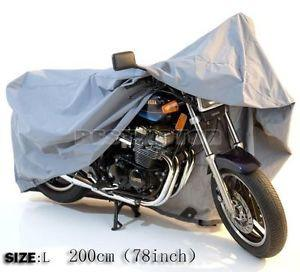 Size 200*113*100cm L Motorcycle/Street Bike Waterproof Dustproof Cover Outdoor Indoor UV Protect 78inch 2M