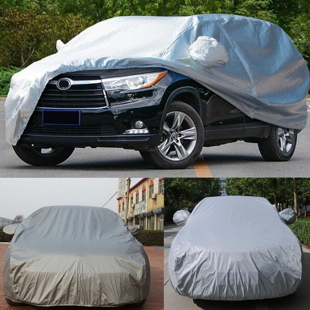 Small Size S Indoor Outdoor Full Car Cover UV Rain Waterproof Snow Dust Sun Protection Resistant Gray Exterior Accessories
