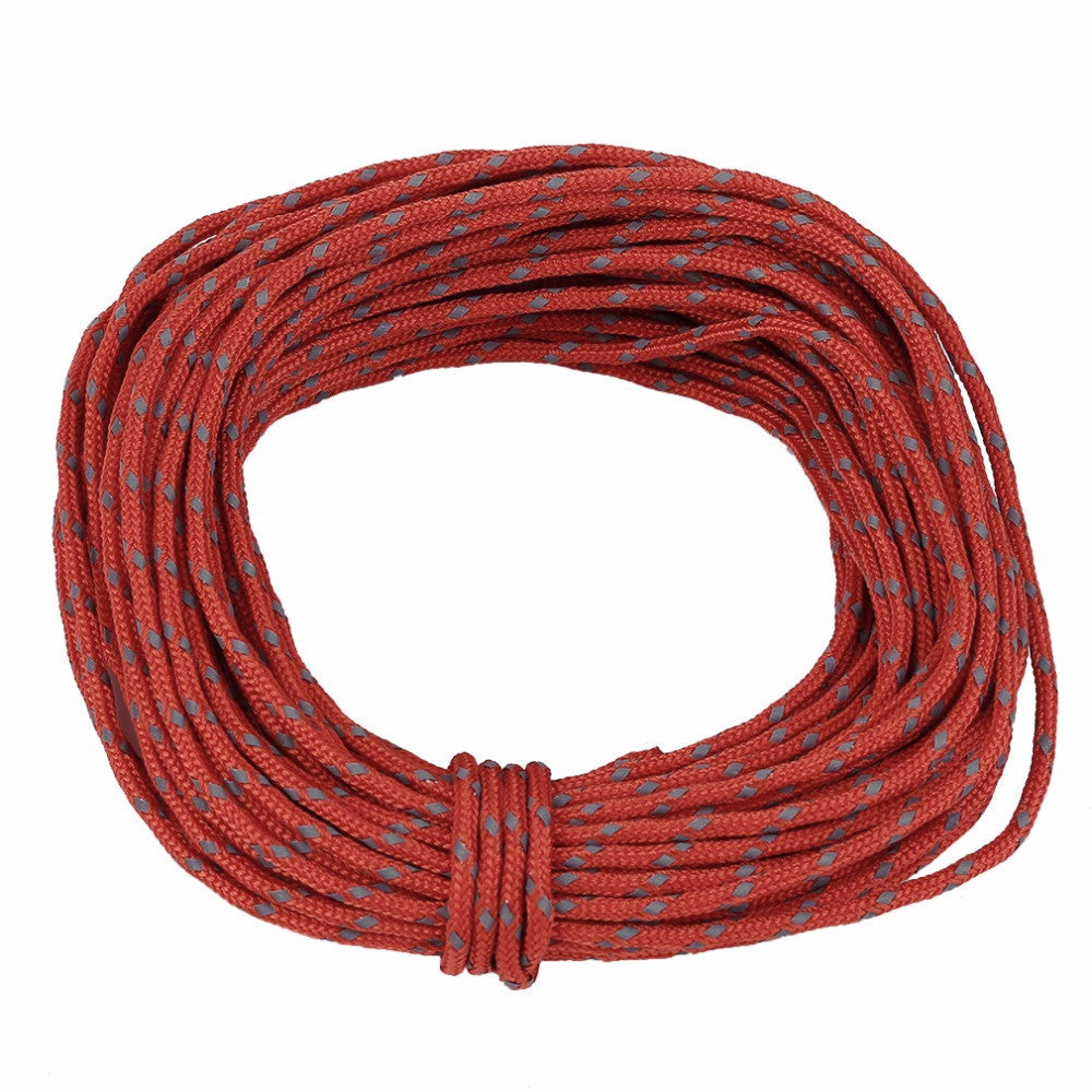 Multifunctional 2.5MM Outdoor Reflective String Windproof Tent Rope Strengthed Camping Rope Reflective Rope Accessories Hot Sale