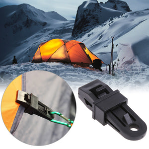 5pcs/Set Outdoor Tents Awing Clip Tarpaulin Tarp Tent Wire Rope Clip Tent Pole Clips Clamp Snap Tent Awning Accessories