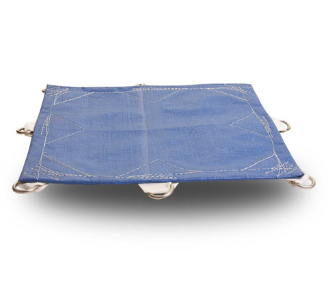 Super-Strong Poly 16.5mil D-Rings Blue - Tarp Trader