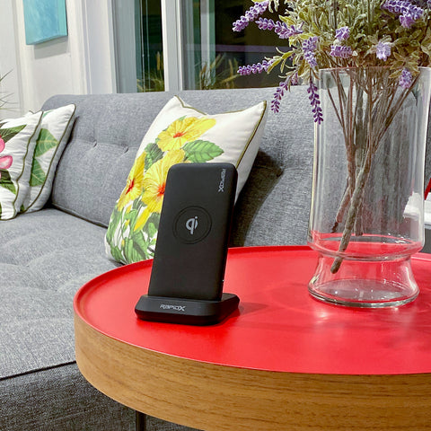 myport wireless charging phone stand powerbank review