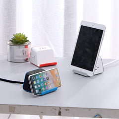 MyDesktop 29W Wireless Charging Stand with 3 USB Ports and 2 Power Outlets - Blue