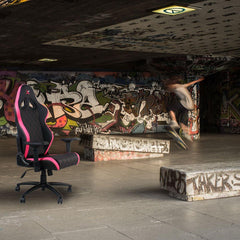 Ferrino Chair - Pink on Black