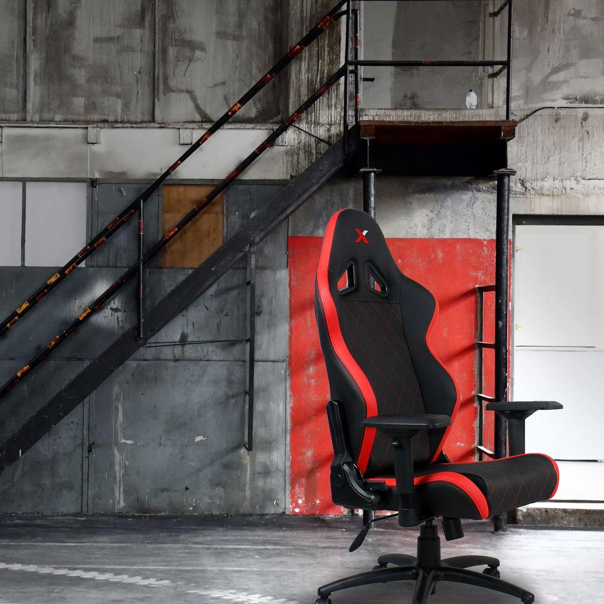 Ferrino Chair - Red on Black