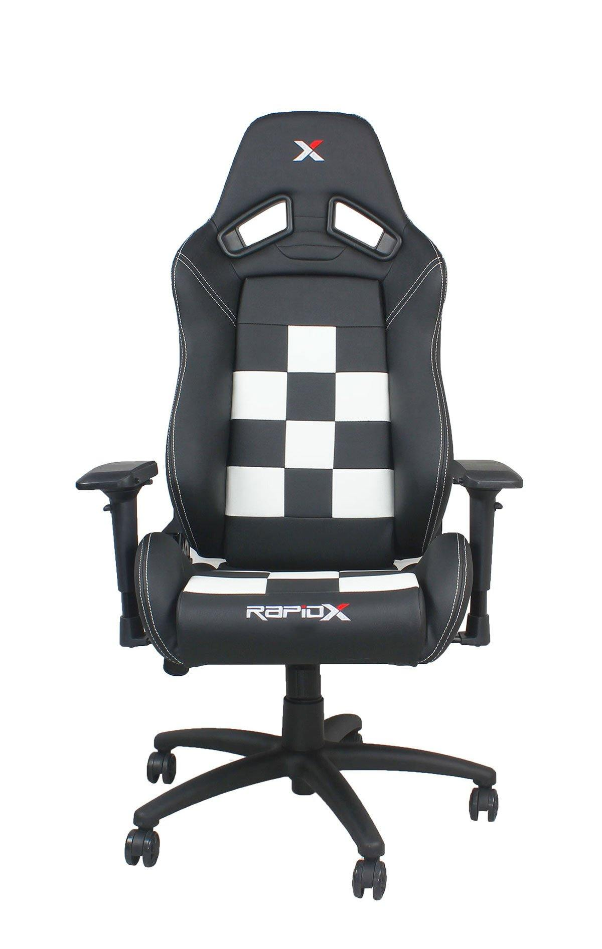 Good Finish Line Chair   White On Black