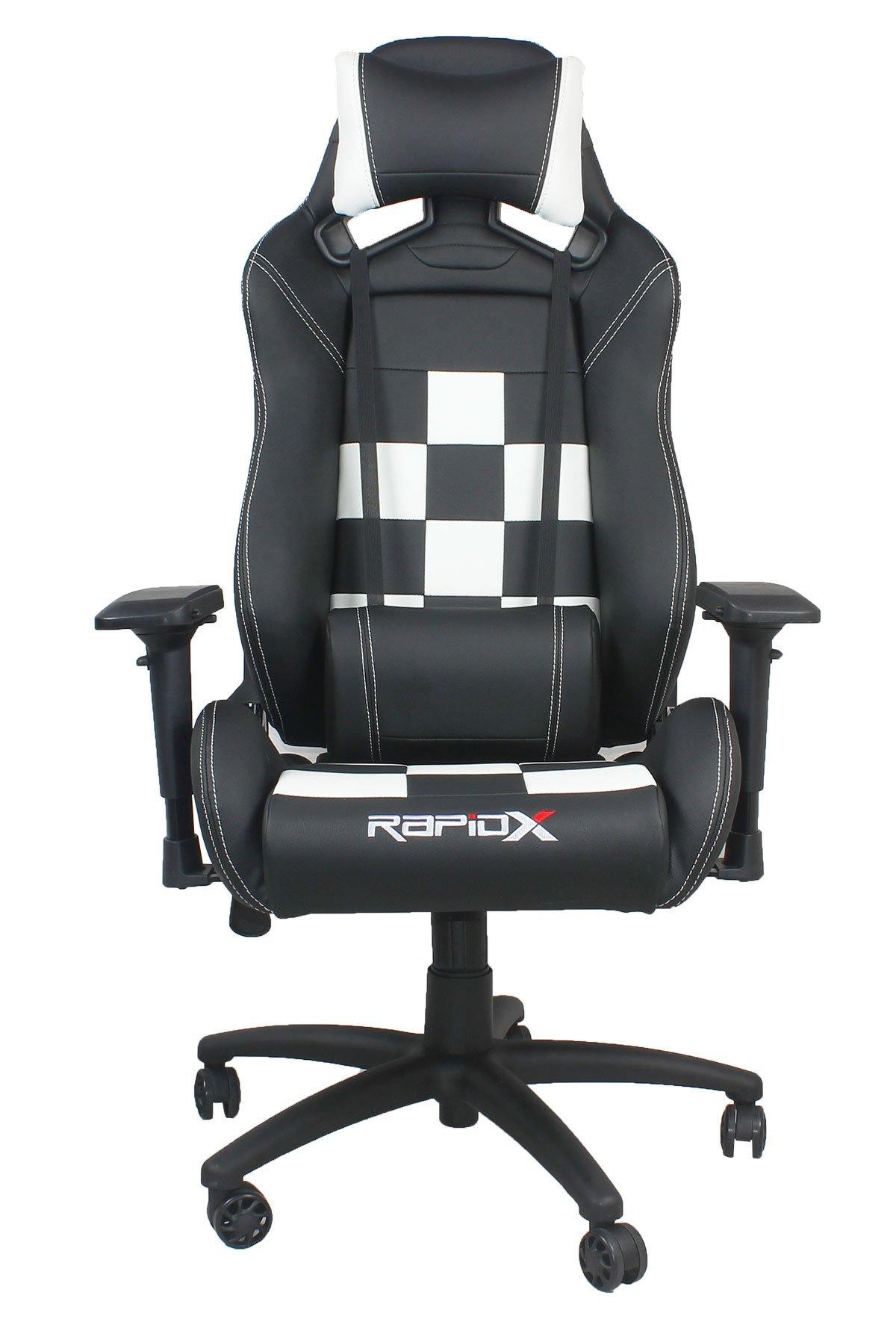 Finish Line Chair - White on Black
