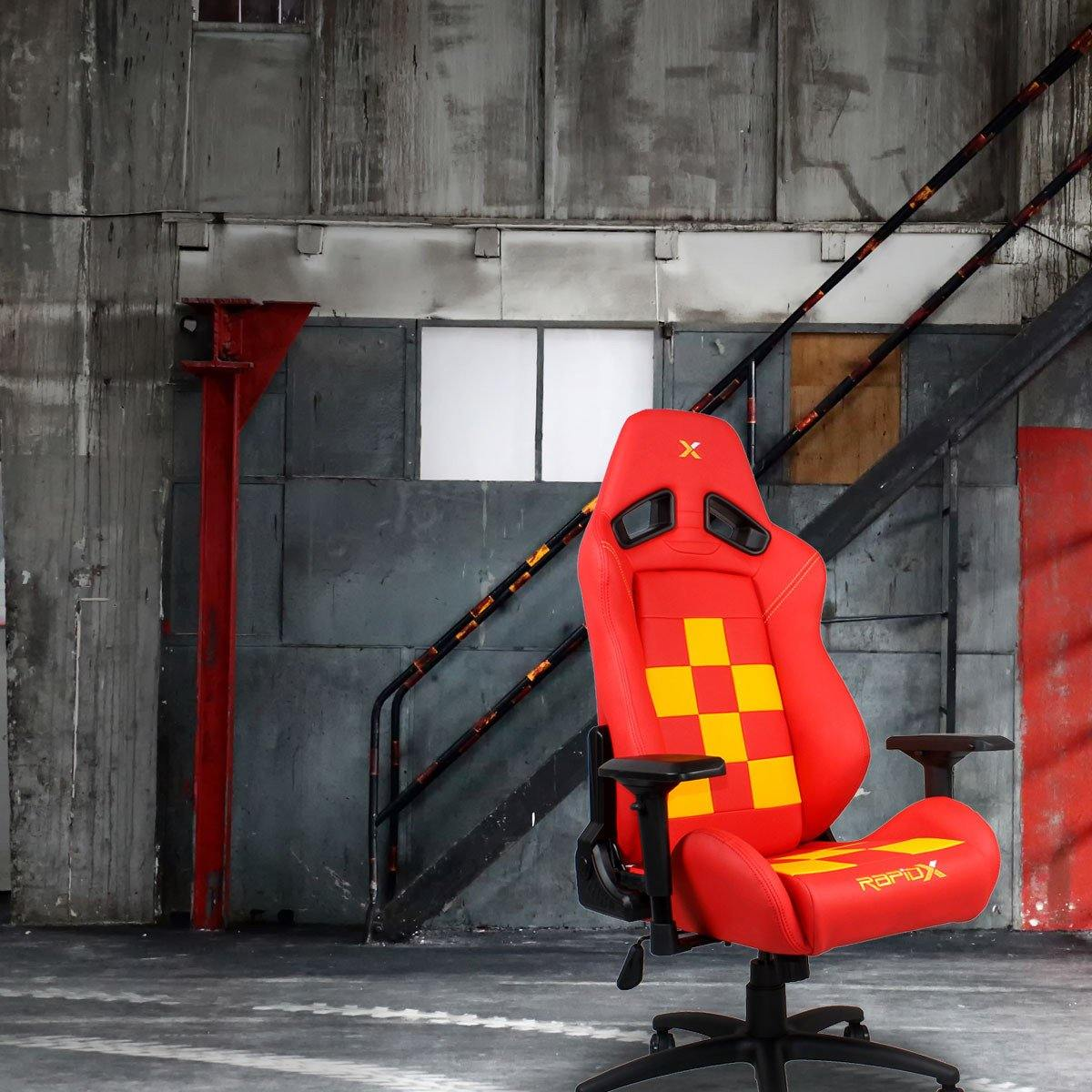 Finish Line Chair - Yellow on Red