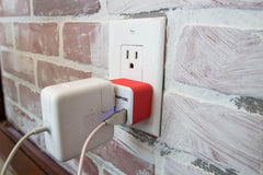 PowX Outlet+USB Red