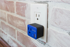 PowX Outlet+USB Blue