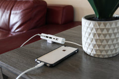 X4 Home Super Compact 4-Port Charger with Type-C PD fast charging for the Home or Office - White