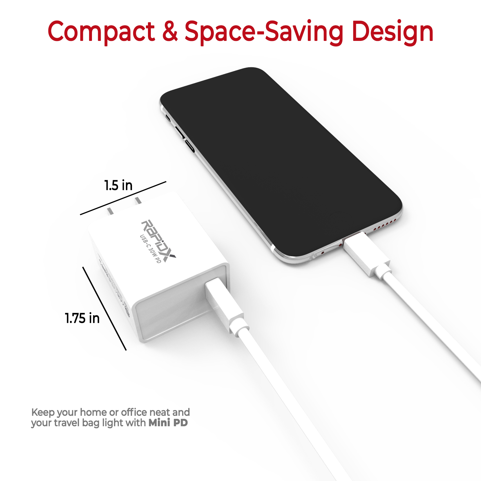 Mini PD 30W USB-C PD Adapter - White