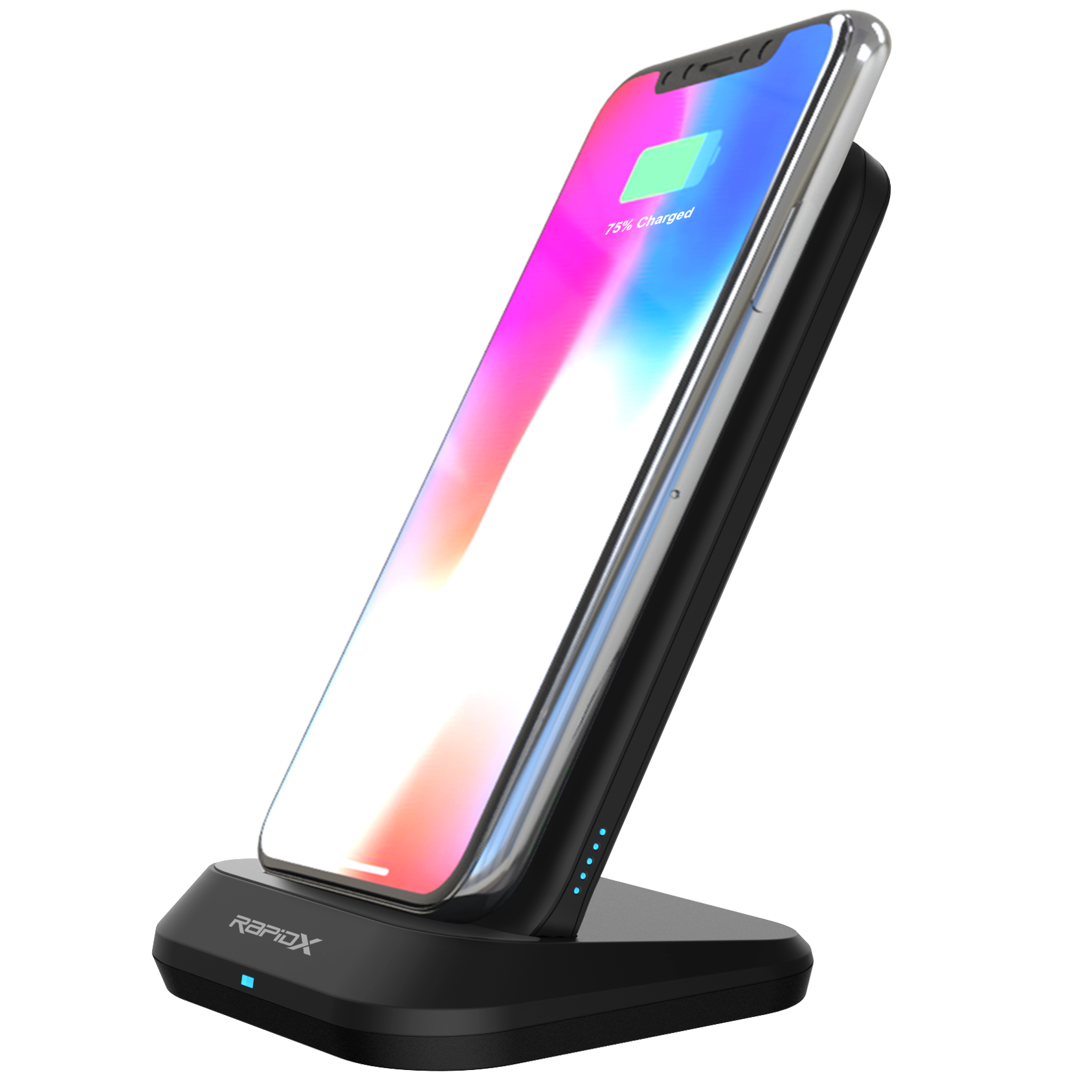 MyPort 10,000 mAh Power Bank, 10W Wireless Charger, & Stand - Black