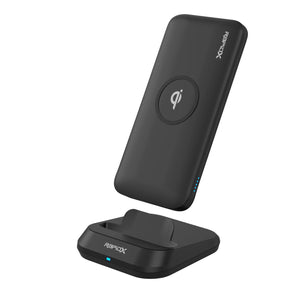 MyPort Wireless Power Bank | 10W Wireless Charger, 10,000 mAh Power Bank & Charging Stand - Black