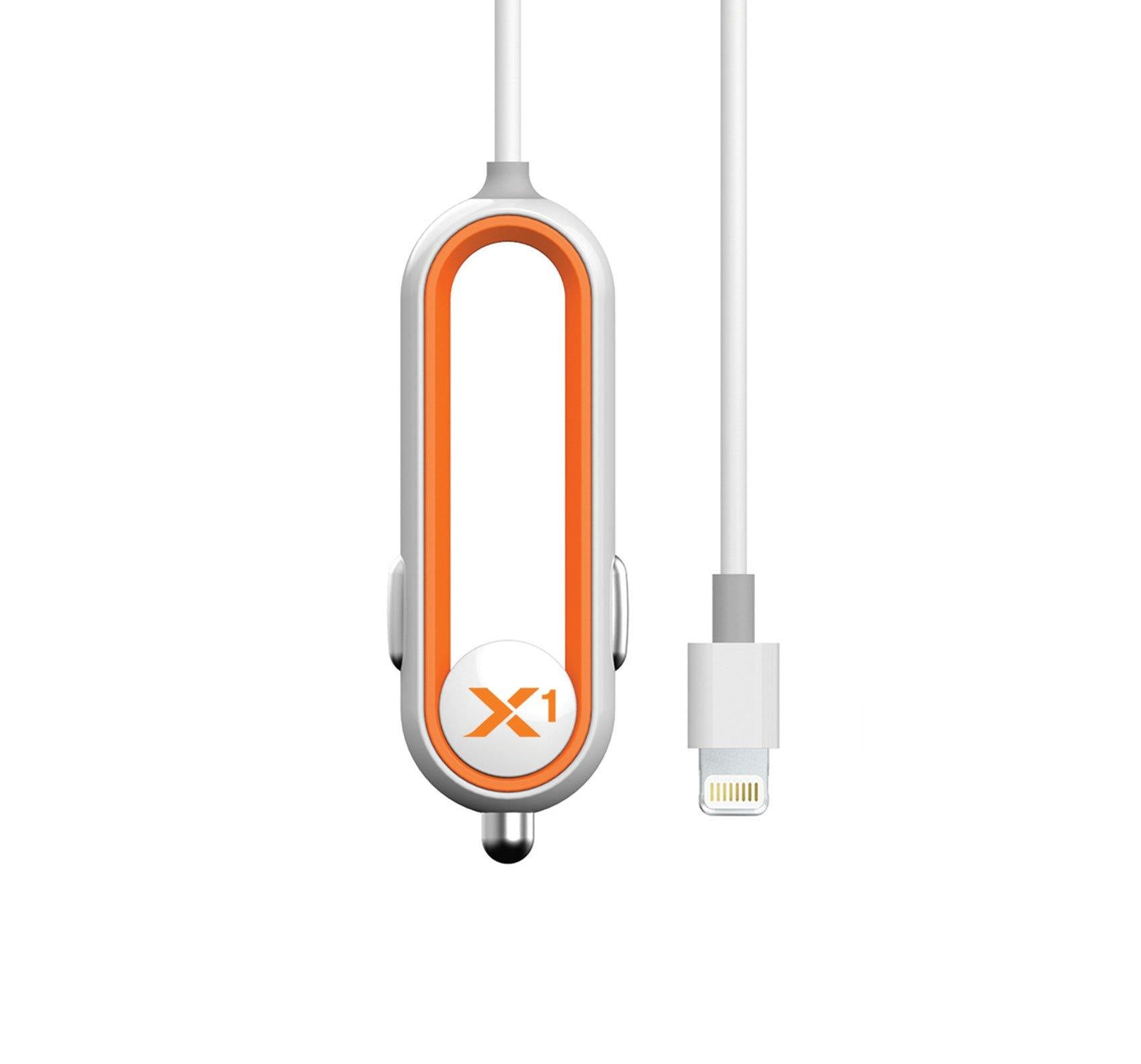 X1 Car Charger with Lightning Connector - Orange