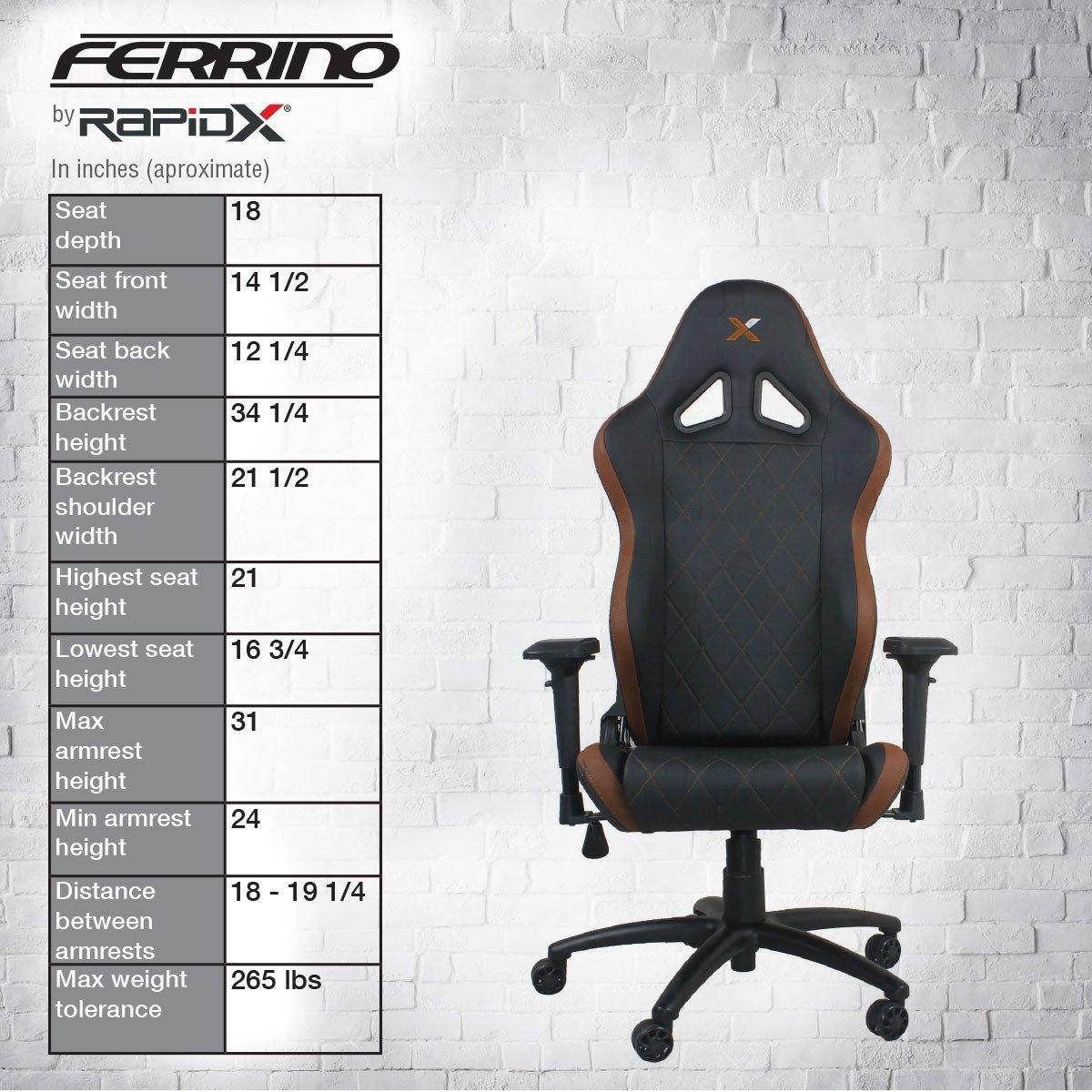 Ferrino Chair - Brown on Black