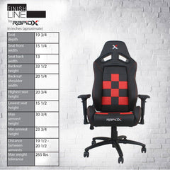 Finish Line Chair - Red on Black